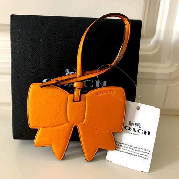 Coach Ribbon 🎀 leather bag charm
